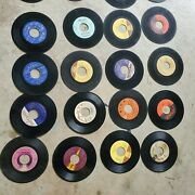 Lot Of 48 45 Rpm Records  7 Vinyl Various Genres For Wall Or Crafts