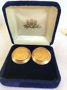 Five Dollar Gold Pieces Dated 1908 And 1909 Custom Made Into Gold Cuff Links