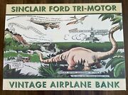 Spec Cast Sinclair Ford Tri-motor Vintage Airplane Bank 3rd In Series 1 Of 5000