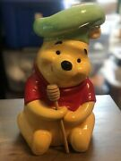 Disney Chef Winnie The Pooh Cookie Jar With Hunny Dipper - Treasure Craft