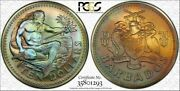 1974-fm Barbados 10 Dollars Matte Pcgs Ms68 Color Toned Only 2 Graded Higher
