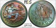 1974-fm Barbados 10 Dollars Pcgs Ms67 Color Toned Only 4 Graded Finer Worldwide