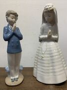 Lladro Figurines First Communion Girl 236 And First Communion Boy 1223