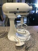 Kitchenaid K5ss Heavy Duty Mixer 10 Speed W/ Cover Bowl And Attach