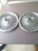 Vintage 2 Original 1967 Ford Mustang Fairlane Falcon Wire Spinner Hubcaps 14''