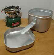 Coleman Stove 502 With Cook Kit Vintage 1974