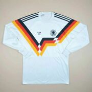 Germany 1990 World Cup Home Football Shirt Jersey Adidas Vintage Long Sleeve