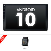 Obd2+ Android 10 Double 2din 10.1 Car Gps Navi Sat Stereo Usb/sd/rds/obd2/1080p