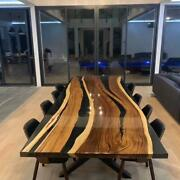 Luxury Epoxy Resin Dining And Coffee Table Top Handcrafted Live Edge Custom Made
