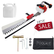 26cc Gas Hedge Trimmer Gasoline Fuel Engine Grass Bush Cutter Double Sided Blade
