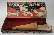 Nos Vintage Stanley Defiance Wedge Vise No. 1240 Usa Rare Tool Complete In Box