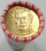25 Us Presidential Gold Dollar Coin Zachary Taylor 2009 Sealed Roll 25 Total