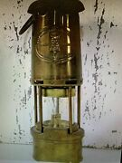 Vintage Antique Wolf Safety Lamp Co. Miners Lamp Sheffield England
