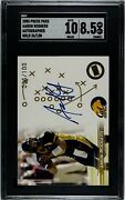 Sgc 8.5 2005 Press Pass Aaron Rodgers Autographed Gold Rookie Card 36/100