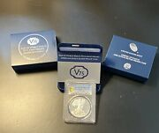 2020 End Wwii 75th Anniversary American Eagle Silver Coin Pr70dcam. Gold Shield.