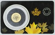 2015 Canada 20 1/10 Oz .99999 Gold Coin - Howling Wolf - In Assay Card
