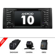 Dvr+cam+obd+android 10 7 Lcd Car Stereo Gps Navigation Radio Dvd For Bmw E39 M5