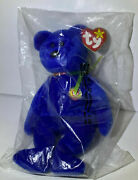Ty Clubby Bear Beanie Babies Official Club Exclusive 1998 Nwt Retired W/errors
