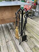 Fire Place Set With Stand Broom/shovel/poker/thongs