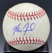 Max Fried Signed Game Used Baseball Atlanta Braves Dual Authentication