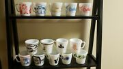14 Rare Pyrex Milk Glass Mugs Advertising Christmas Childrenand039s Collectable