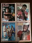 The Ring Magazine, April, May, June, October 1984, Lot Of 4