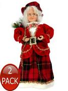 2 X Animated - Traditional Mrs Claus