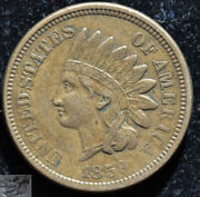 1859 Copper Nickel Indian Head Penny, Cent, Extremely Fine+ Condition, C5137