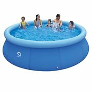 Inflatable Top Ring Swimming Pools Outdoor Ground Set Round For Kids Or Adults