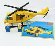 Vintage 1985 Lego Town Coast Guard 6697 Rescue Helicopter 100 Comp W/instruct
