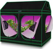 Quictent Hydroponic Grow Tent 96x48x7 Roof Cube Tent Planter Growing Room Box