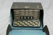Ranco 120 Bass Chromatic Button Accordion W/ Case As Is Parts Or Repair
