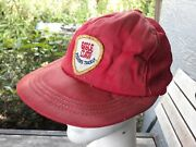 Dirty Vtg Eagle Claw Fishing Tackle Red Trucker Style Mesh Snap Back Hat Cap