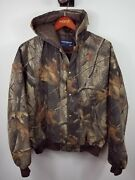 Vintage Swingster Realtree Camo Quilted Jacket Hood Usa Size Xxl Cooper Tires