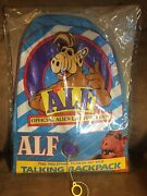 Vintage 1987 Talking Alf Backpack New And Sealed + Works Perfectly