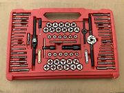 Snap-on Usa 76 Piece Tap And Die Set Tdtdm500a Missing Other Half Of Case.