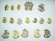 Amazing Wwii U.s Navy Nurse Corps Nnc Collar Insignia Collection / Lot Sterling