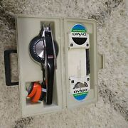 Vintage Dymo 1570 Label Maker With Embossing Wheels Tape And Case Pre-owned