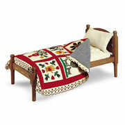 New American Girl Addy's Rope Bed W/red Quilt-retired/nib Pleasant Company