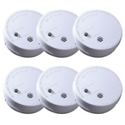 6 Pack Smoke Alarm Ionization Code One Battery Operated Fire Safety Detector