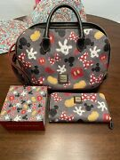 Disney Dooney And Bourke Mickey Mania Body Parts Satchel And Wallet And Magic Band