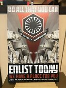 Disney Parks Star Wars Galaxyandrsquos Edge First Order Enlist Today Metal Sign Nib