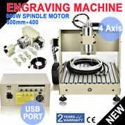 Usb 4axis Engraver 3040 Cnc Router Engraving Mill Drill Woodworking Machine 800w