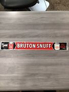 Vintage 1960's Bruton Snuff Chewing Tobacco Gas Station 24 Metal Sign Door Push