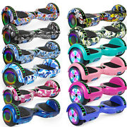 Electric Scooter 6.5 Tires Hoverboard Self Balancing Moto Bluetooth Gift No Bag
