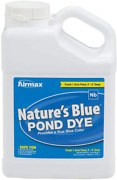 Airmax Nature's Blue Pond Dye Plus With Pondclear Beneficial Bacteria, 1 Gallon