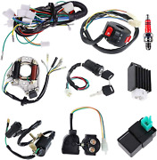 Complete Electrics Stator Coil Cdi Wiring Harness Solenoid Relay Spark Plug