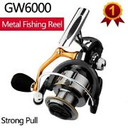 Black Spinning Sea Fishing Fixed Spool Reel Gm6000 Left/right Hand Changeable