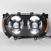 Front Led Headlight Side Marker Turn Signals Fit For Harley Road Glide 15-19 18