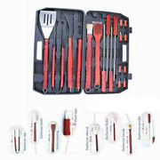 18pcs Bbq Barbecue Tool Set Grill Grilling Tool Stainless Steel Thermometer Cook